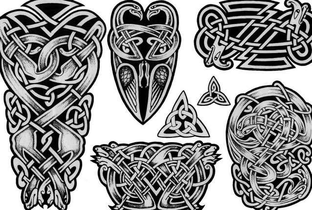 Эскизы славянских тату