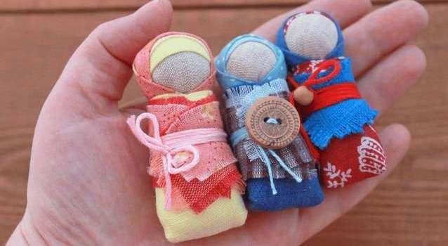 Куколки обереги для детей из ткани