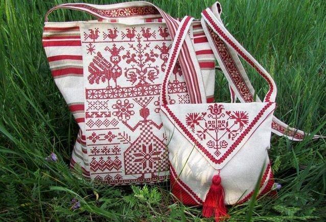 Вышивка Макошь на сумке